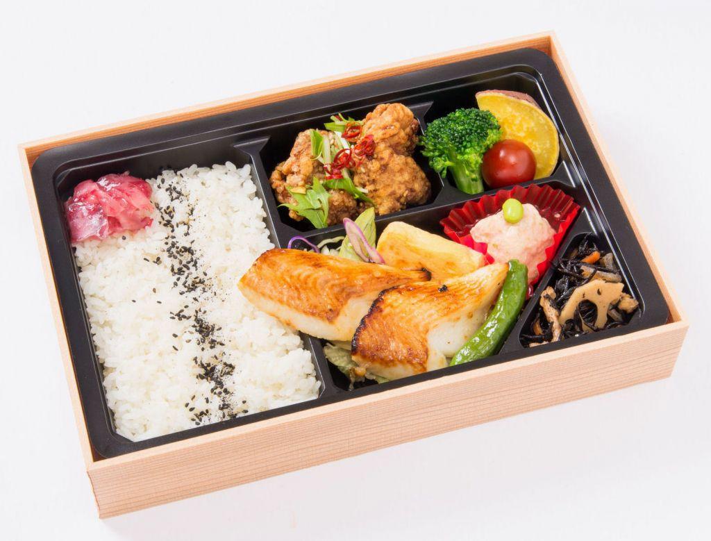 白身魚の西京焼弁当(油淋鶏)