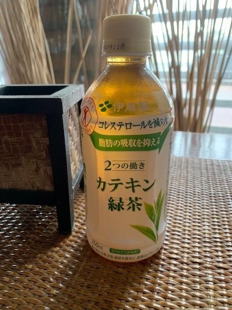 サービスの特保の緑茶(350ml)